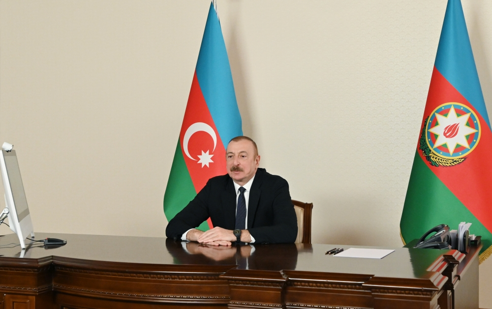 President Ilham Aliyev Held a Video Conference Call With a Co-chair of Nizami Ganjavi International Center