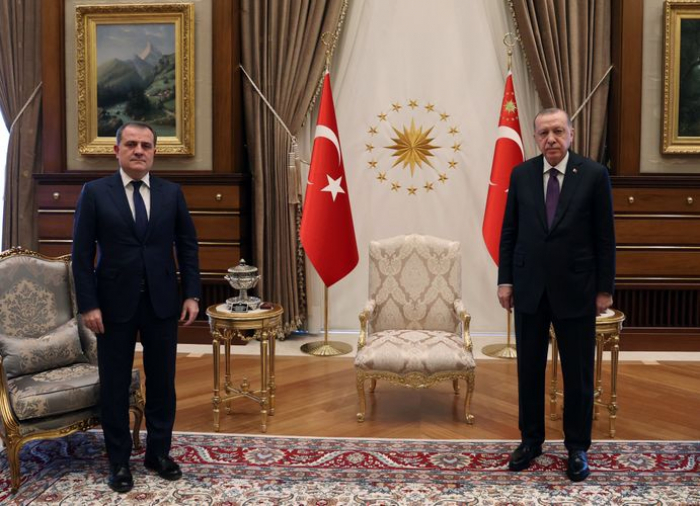 Turkish President Receives Foreign Affairs Minister of Azerbaijan