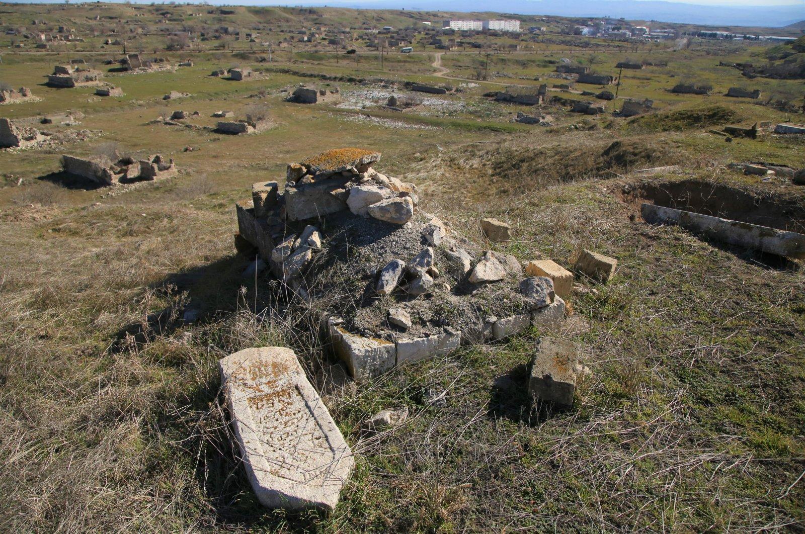 Armenian damage in Nagorno-Karabakh reveals itself in cemeteries