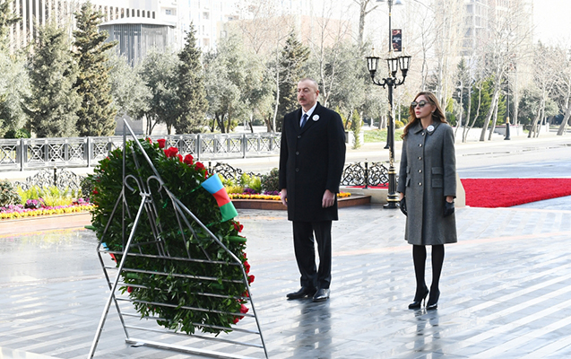 President Ilham Aliyev Paid A Visit to Khojaly Genocide Memorial