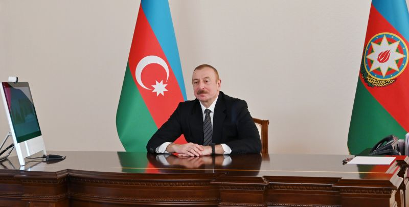 Ilham Aliyev Held A Video Meeting With the Chief of the General Staff of the Pakistani Armed Forces