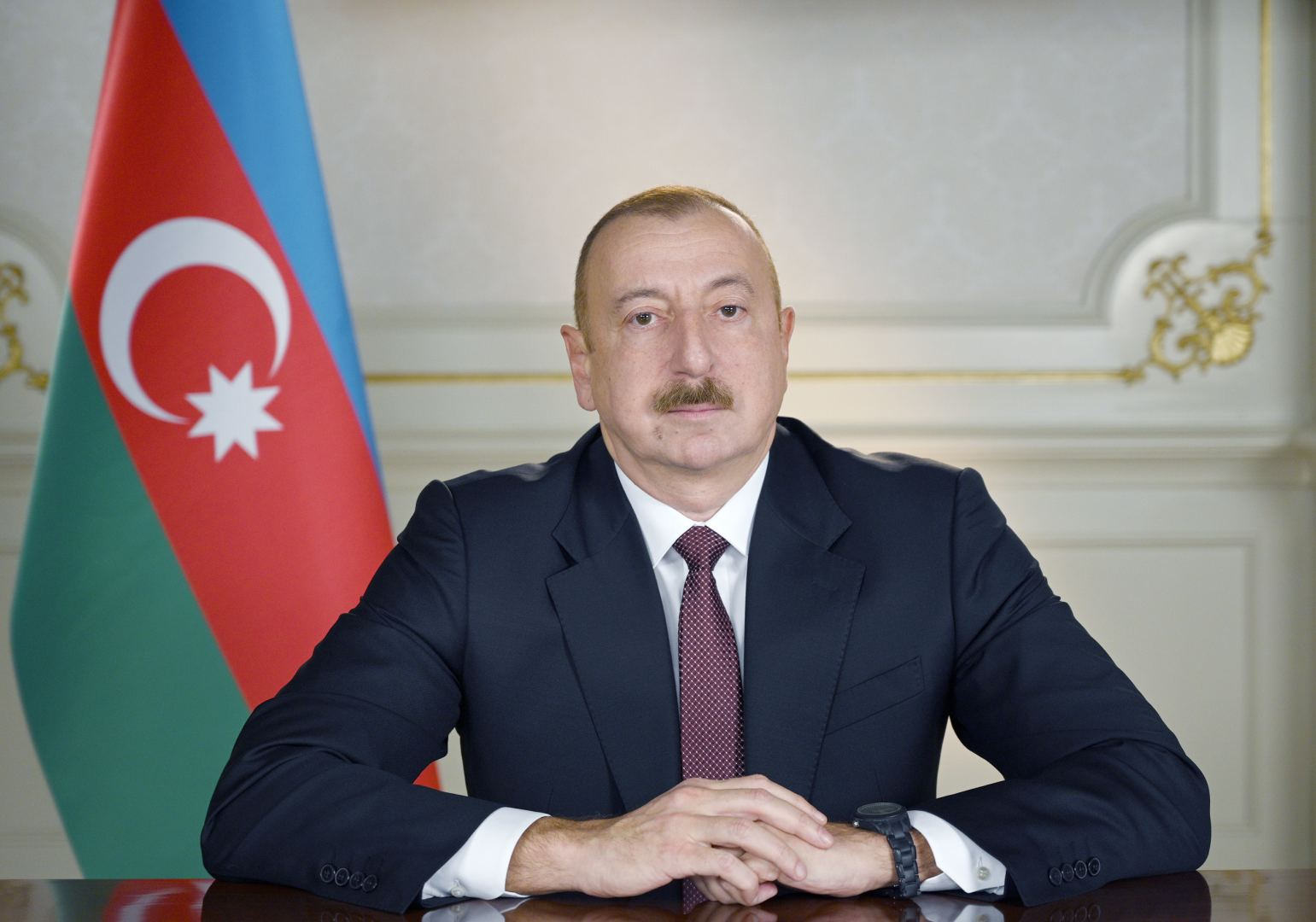 President Aliyev views ongoing work on the bridge built over 'Victory Road' to Shusha
