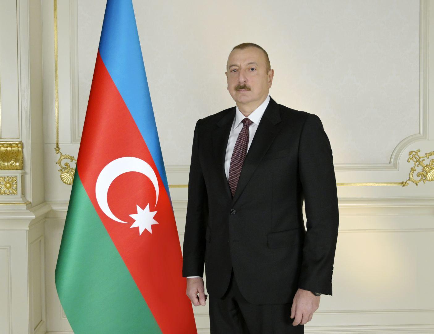 President Ilham Aliyev lays the foundation for a tunnel on Ahmadbayli-Fuzuli-Shusha highway