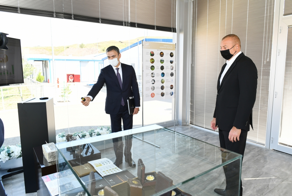 President Ilham Aliyev viewed activities of Chovdar Integrated Regional Processing Area owned by AzerGold CJSC