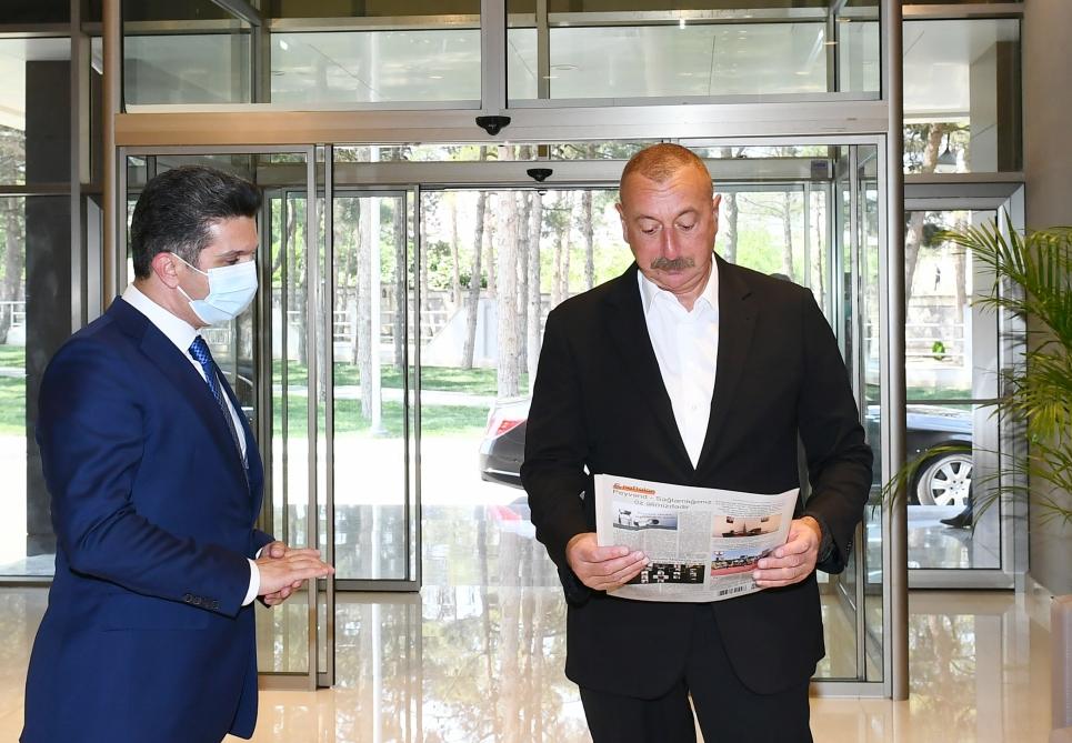 President Ilham Aliyev attended inauguration of Naftalan Central Sanatorium