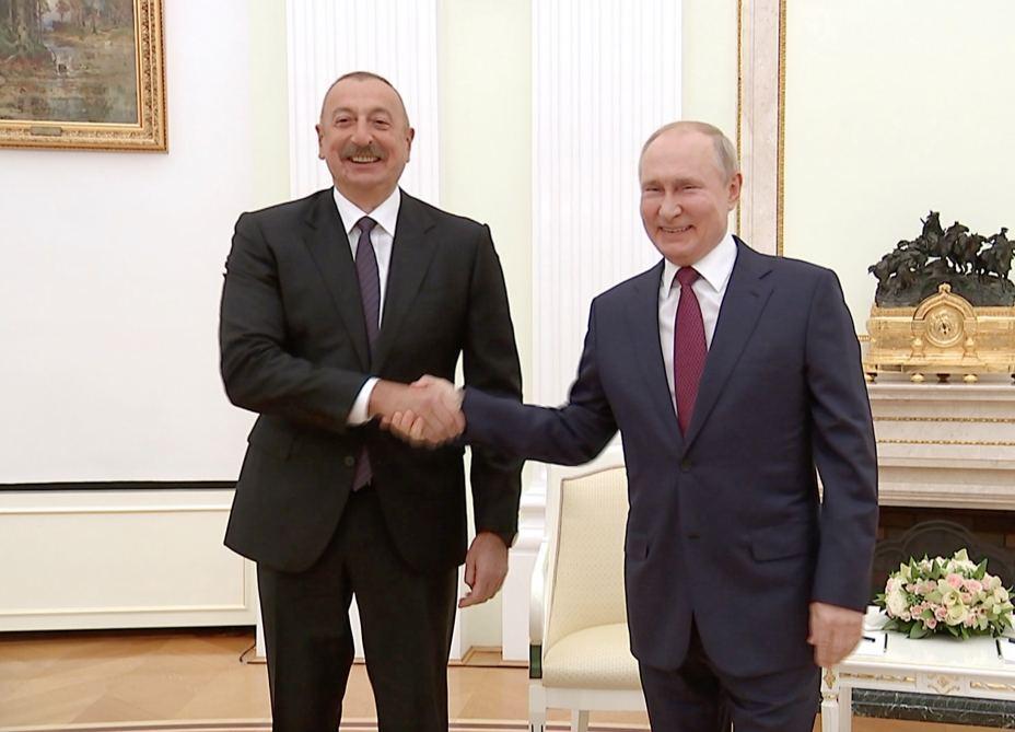 President Putin thanks President Ilham Aliyev