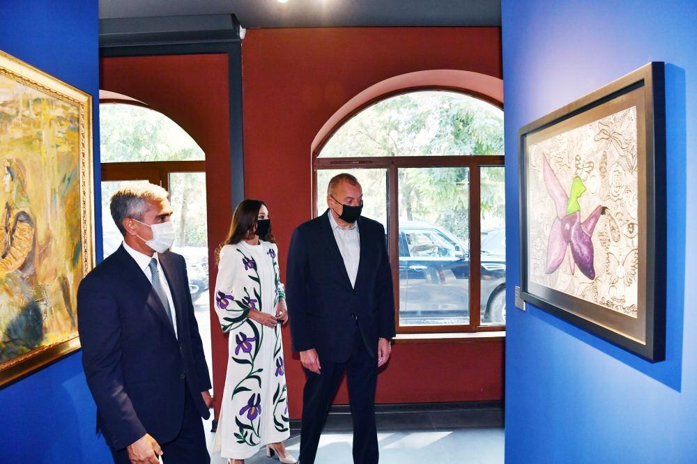 President Ilham Aliyev, First Lady Mehriban Aliyeva view exhibitions organized by Heydar Aliyev Foundation in Shusha
