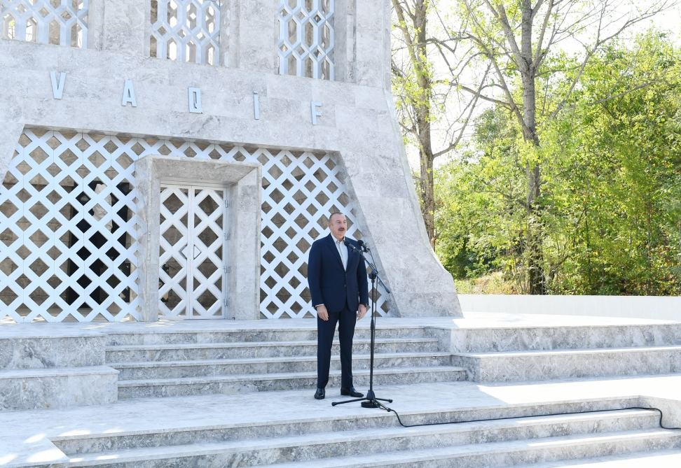 President Aliyev: We are in Shusha today, and from now on we will live here