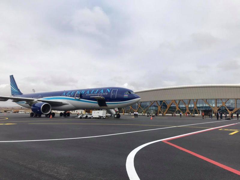 "Landmark Development: AZAL's ""KARABAKH"" Aircraft Landed at the Fizuli Airport"