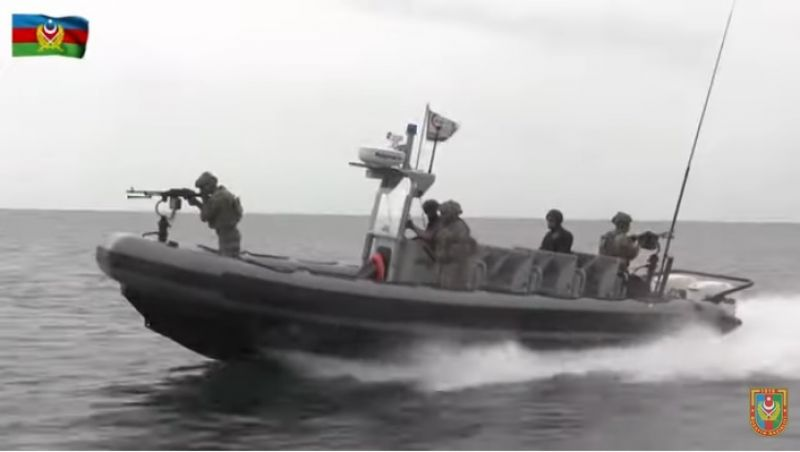 Joint exercises of naval special forces Azerbaijan and Turkey at sea