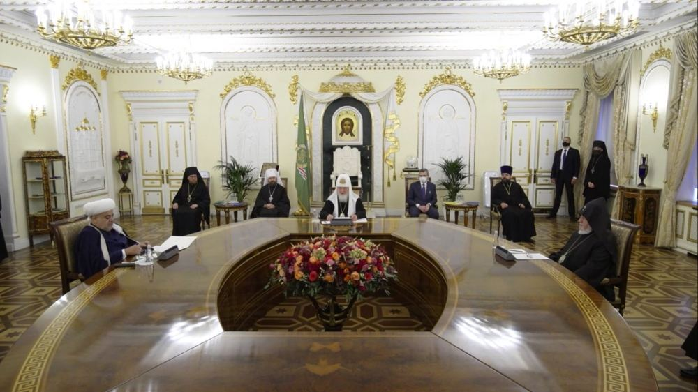 Meeting of religious leaders of Azerbaijan, Russia and Armenia is taking place in Moscow