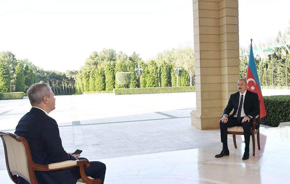 Chronicles of Victory: President Ilham Aliyev interviewed by Russian RBC TV channel
